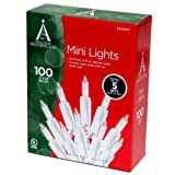 Noma Inliten 100-count Clear Christmas Light Set White Wire