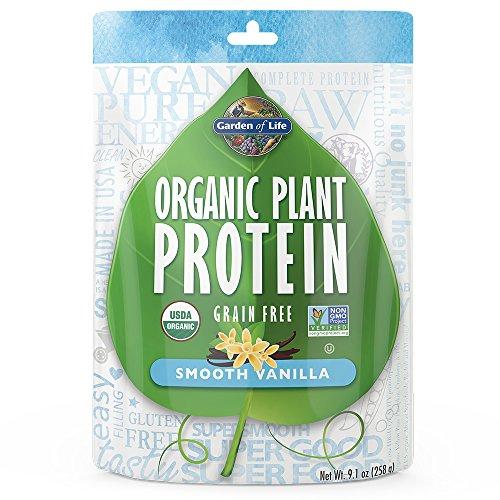 Garden of Life Organic Protein Powder – Vegan Plant-Based Protein Powder, Vanilla, 9.4 oz (265g) Powder ((Packaging May Vary))