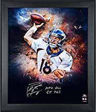 "Peyton Manning Denver Broncos Framed Autographed 20"" x 24"" In Focus Photograph with NFL REC 55 TDS Inscription - Fanatics Authentic Certified"