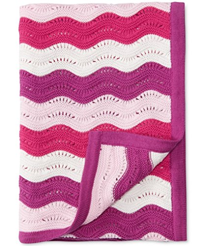 First Impressions Baby Girls' Chevron Blanket Pink/Multi - 1
