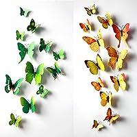 24 Pcs Art Decor Wall Stickers Home k…