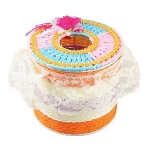 Amazon.com - Cuadro de tejido rosa de encaje borde cinta de flores de