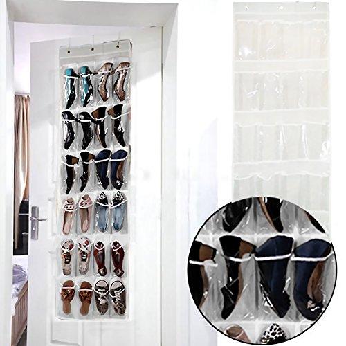 t r organizer h ngeorganizer f r t r 24 taschen mit t r h nger schuhe aufbewahrungstasche 45 x. Black Bedroom Furniture Sets. Home Design Ideas
