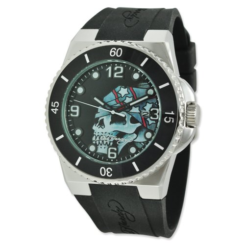 Mens Designer's Fusion Skull Watch