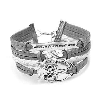 Trendy-Women-Infinity-Owl-Friendship-Antique-Leather-Cute-Charm-Bracelet-Gift-including-gift-box-by-Boolavard-TM