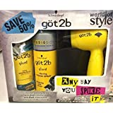 Schwarzkopf Got2b World of Style 3 Piece Gift Set - Any way you Spike it! Glued Series