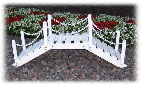 Prairie Leisure Decorative Garden Bridge with Post and Chain