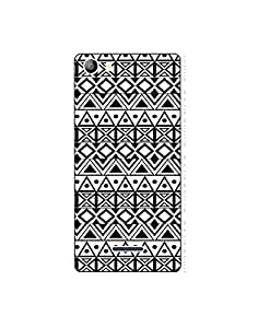 Micromax Canvas 5 ( E481) Ethnic-monochrome-pattern-01 Mobile Case (Limited Time Offers,Please Check the Details Below)
