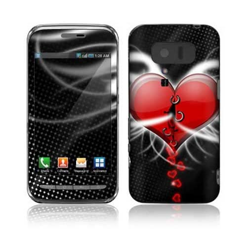 Devil Heart Design Decorative Skin Cover Decal Sticker for Sharp Lynx 3D SH 03C Cell Phone