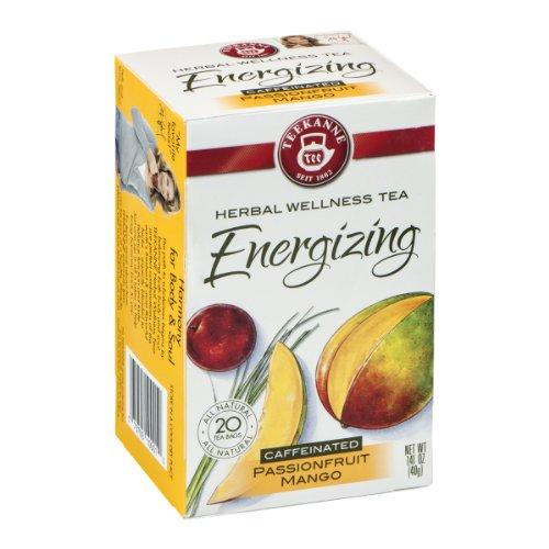 Teekanne Herbal Wellness Tea Energizing Passionfruit Mango - 20 Ct