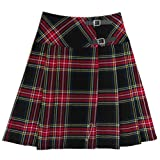 Tartanista Long Black Stewart Red Tartan/Plaid 23