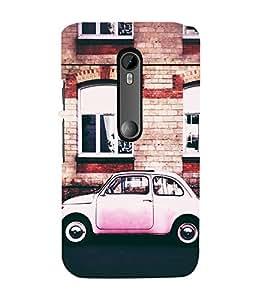 99Sublimation Vintage Pink Car 3D Hard Polycarbonate Back Case Cover for Motorola Moto G3 :: G 3rd Gen :: G Gen 3 :: G Dual SIM 3rd Gen :: G3 Dual SIM
