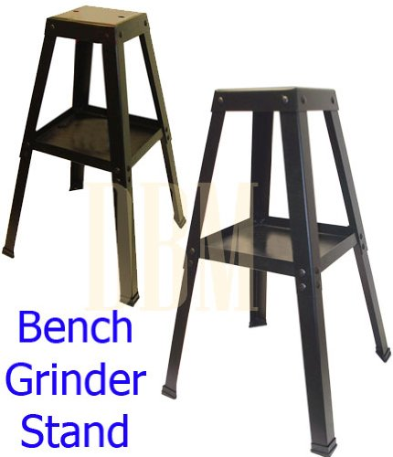 Universal Bench Grinder Stand Buffer Vise Tool Floor Stand With Tray Shelf Rack (Universal Bench Grinder Stand compare prices)