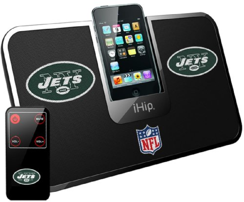 iHip Official NFL - NEW YORK JETS - Portable iDock Stereo Speaker with Wireless Remote NFV5000NYJ at Amazon.com