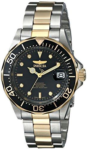 Invicta Pro Diver 8927 - Orologio da Polso Automatico, Unisex, Quadrante Nero, Bracciale Acciaio/Oro