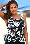 Beach Belle Splash Plus Size Tankini Top Womens Swimwear