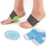 Bitly Plantar Fasciitis, Arch, Heel & Ankle Support Kit, Foot Massager Plantar Fasciitis Sock