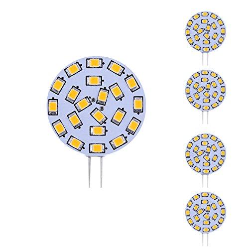 Le 3W G4 Led Light Bulbs, Equivalent To 40W Halogen Bulb, 12Vac, Bi-Pin Light Bulb, 280Lm, Warm White, Pack Of 4 Units
