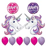 10pc-Lavender-and-Pink-Unicorn-Birthday-Party-Balloon-bouquet