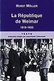 echange, troc Horst Möller - La République de Weimar