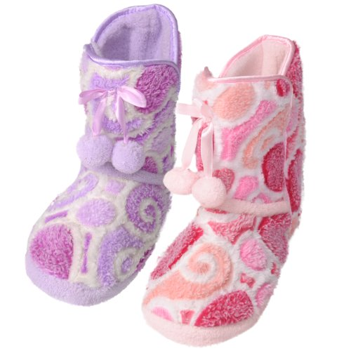 Image of Journee Kids Girls Heart Pattern Toggle Slipper Boots (B005QAWAO8)