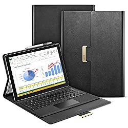 Surface Pro 4 Case, ESR Intelligent Series Folio Stand Case [Buckler for Secure Closure][Compatible with Surface Pro 4 Type ][Built-in Stand with Multiple viewing Angles]for Surface Pro 4_Black