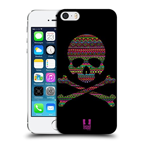 Head Case Designs Aztec Skulls and Crossbones Protective Snap-on Hard Back Case Cover for Apple iPhone 5 5s