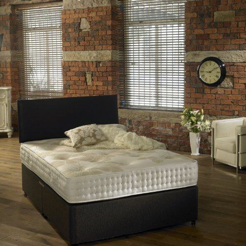 Westminster Beds Chelsea 4FT6 Double Divan Bed with Luxurious Memory Foam  &  Pocket Sprung Mattress