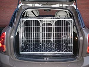 MINI COUNTRYMAN CAR DOG CAGE SLOPED FRONT GUARD PUPPY CRATE ...