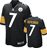 Ben Roethlisberger Youth Jersey Home Black Game Replica