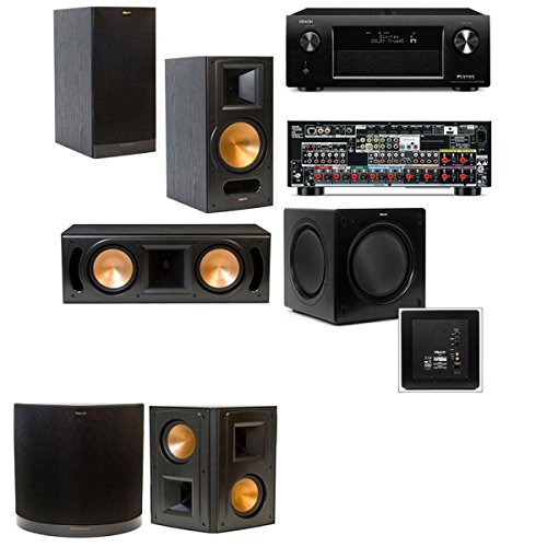 Klipsch Rb-81Ii 5.1 Home Theater System-Denon Avr-X4000 In-Command 7.2- Black