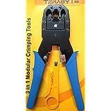 Terabyte 3 In 1 Modular Crimping Tool For RJ45 RJ12 RJ11 UTP CAT5 LAN Cutter 4P4C 4P2C