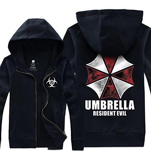 Costume Resident Evil Umbrella Corporation Giacca nera stile CL
