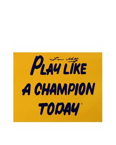 Steiner Sports Memorabilia 'Play Like A Champion Today' Lou Holtz Signed Photograph