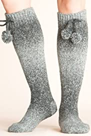 Space Dye Bootie Slipper Socks with Wool [T60-5523-S-FO32]