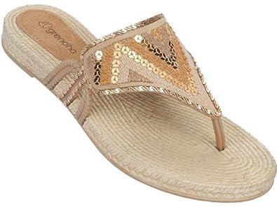 Grendha Fresh femmes Flip Flops / Sandals - or - SIZE EU 37