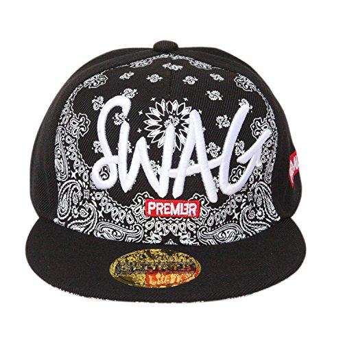 fe6251942b0 ILU Swagg Black Cap For Kids  Snapback caps  Baseball caps   Hip hop ...