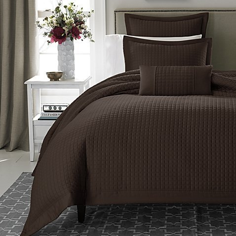 Keeco Retreat Duvet Cover, Twin, Chocolate (Twin Quilted Coverlet compare prices)