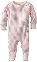 Kushies Unisexbaby Newborn Everyday Layette Sleeper, Pink Dots, Preemie