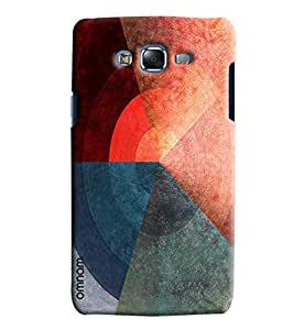 Omnam Three Color Pattern Printed Designer Back Cover Case For Sumsang Galaxy J7