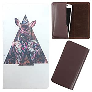 DooDa - For Karbonn A2 PU Leather Designer Fashionable Fancy Case Cover Pouch With Smooth Inner Velvet