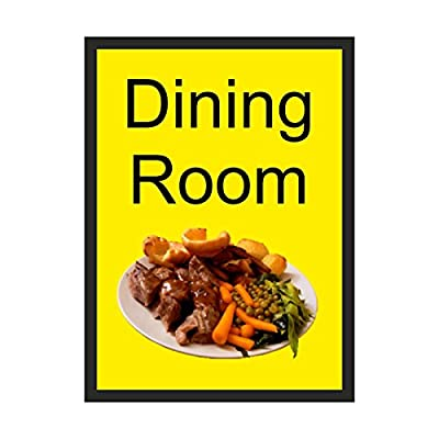 Dining Room Dementia Sign Self Adhesive
