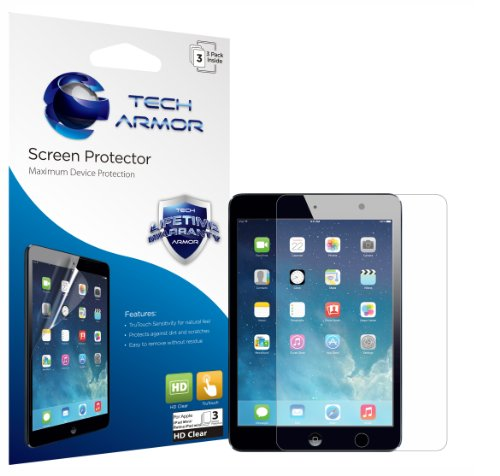 Tech Armor Apple iPad Mini HD Clear Screen Protector with