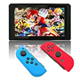 Silicone Case for Nintendo Switch, Protective Cover Skins for Switch (BlueRed)