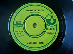 """MARSHALL HAIN Dancing in the City 7"""" 45"""