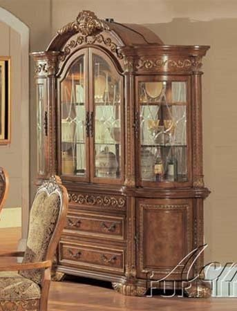 Cheap China Cabinet Buffet Hutch in Brown Finish (VF_AM0934)