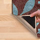 Ruggies As Seen On TV Rug Gripper Stopper Rug Pad Ruggy Washable Carpet Pad Floor Gripper Suction Grip Stopper Corner Carpet Holder include 8 adhesive sticker + 8 Rug Pad