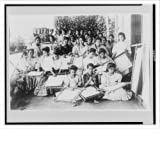 Historic Print (L): Embroidery class at Paco School, Manila, Philippine Islands by Library Images