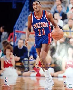 Isiah Thomas Autographed Hand Signed Detroit Pistons 20x24 Photo HOF 2000, ZEKE, 12... by Hall of Fame Memorabilia