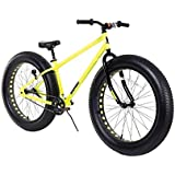 "Dynacraft Boys 26"" Fat Tires Krusher Bike, Neon Yellow/Black"